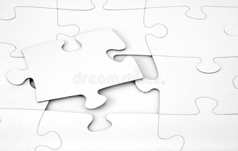 Download White Puzzle stock illustration. Image of connective, elements - 496579