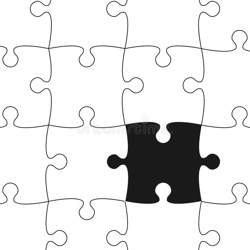 Download White Puzzle Pieces Vector Background Stock