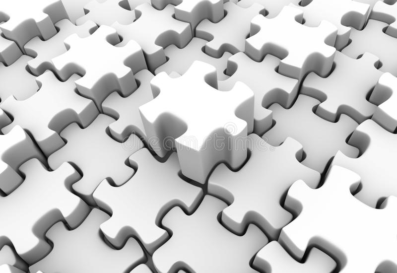 Download White Puzzle Scape Royalty Free Stock Photos - Image: 10267608