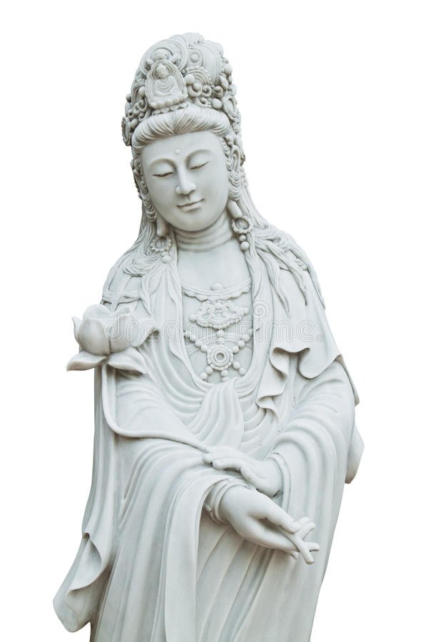 White Quan-Yin royalty free stock photography