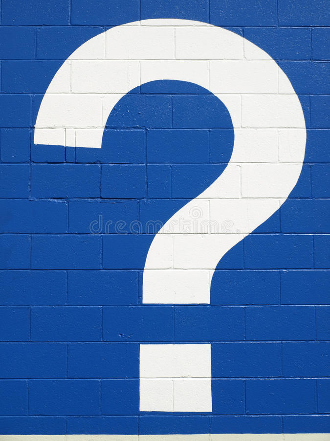 Download White question mark stock image. Image of large, single - 9587031