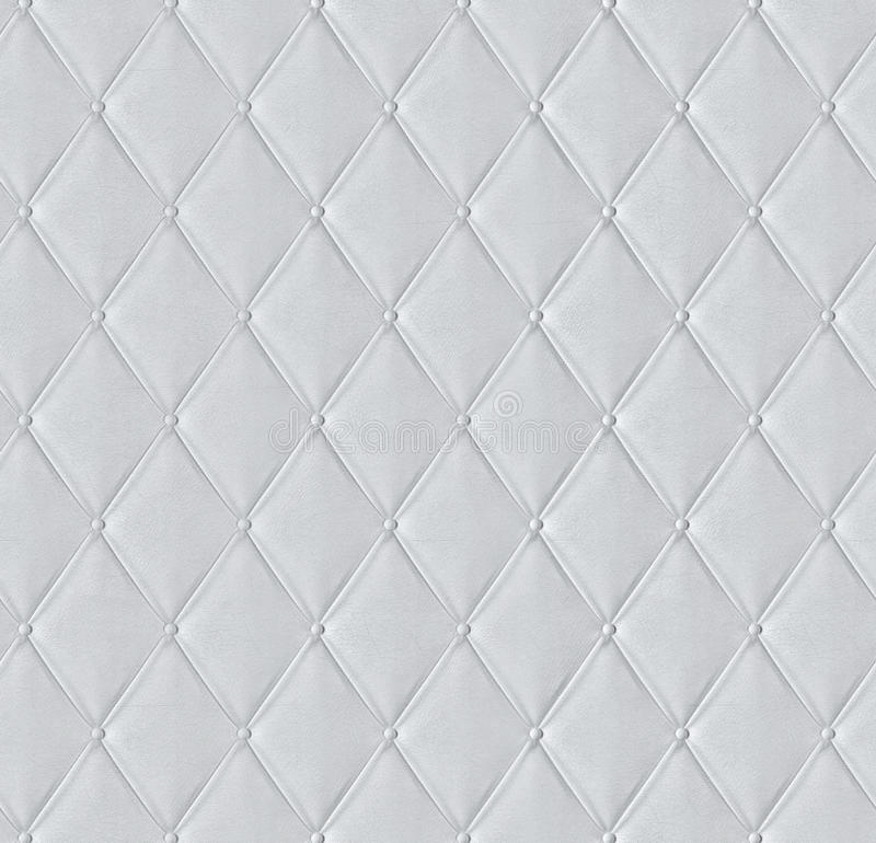 White Quilted Leather Tiled Texture Stock Image Image Of