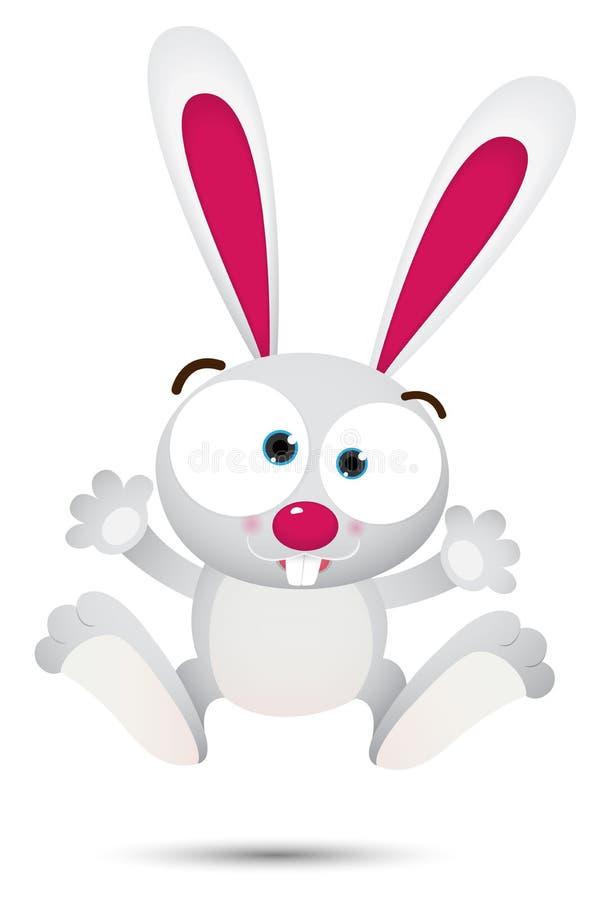 White Rabbit Jumping Royalty Free Stock Photo