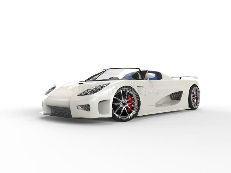 White Race Sportscar royalty free stock photo