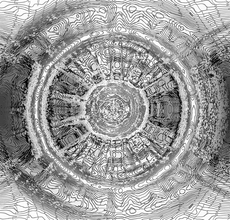 WHITE RADIAL DESIGN WITH BLACK LINE WORK. Image of an abstract black and white radial design with intricate line work stock images