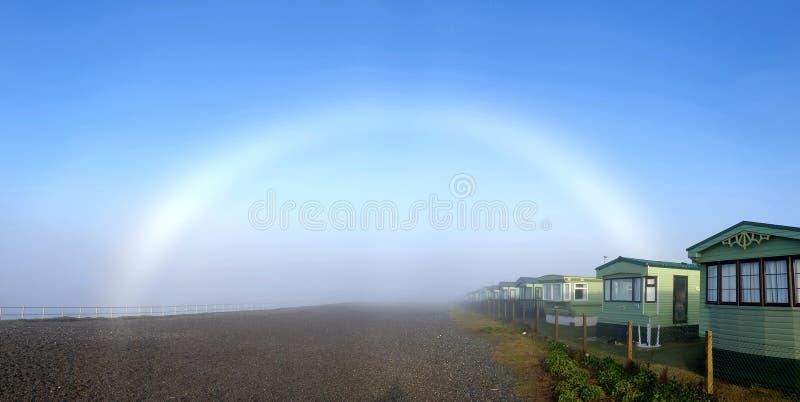 White rainbow aka a fogbow royalty free stock photos