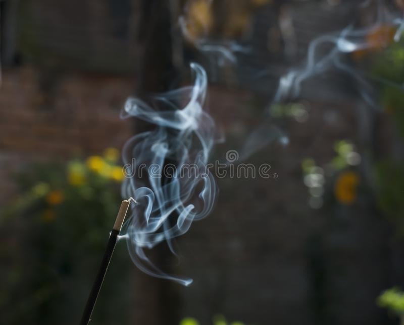 white random smoke of Joss-stick royalty free stock photos