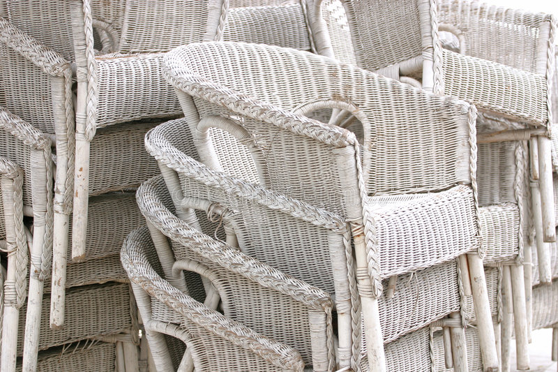Download White Rattan Chairs Stock Photo. Image Of Comfortable, Shadow    940840