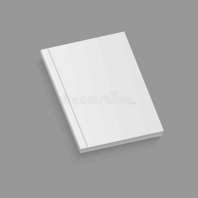 White realistic blank brochure. vector illustration