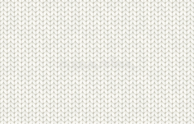 White realistic knit texture vector seamless pattern. Tile royalty free illustration