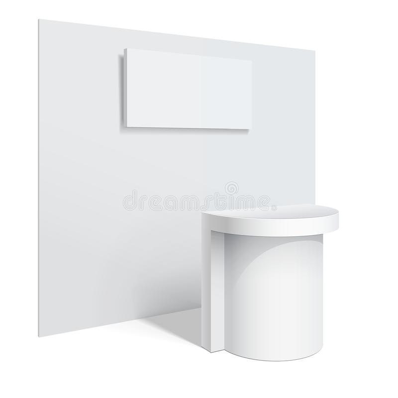 White Reception Counter Side Toned Stock Illustration