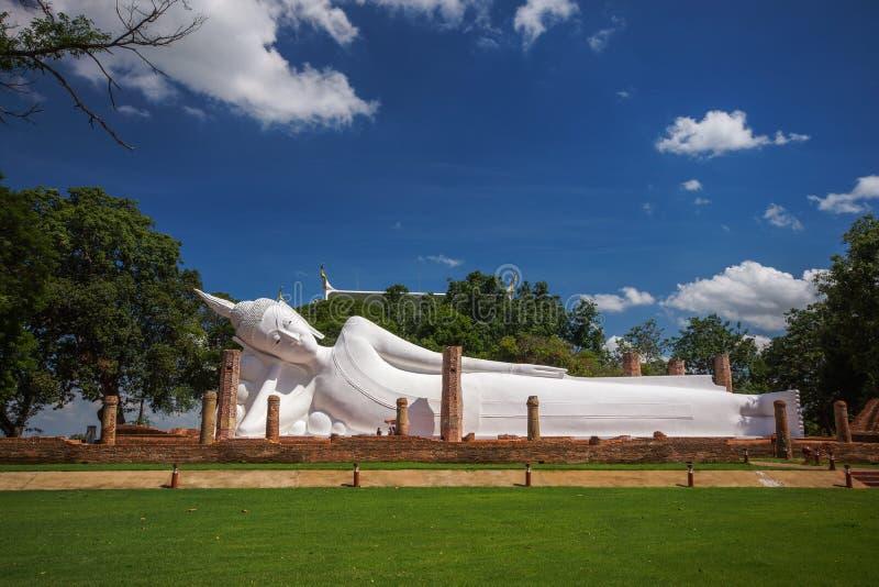 White Reclining Buddha Image royalty free stock photography