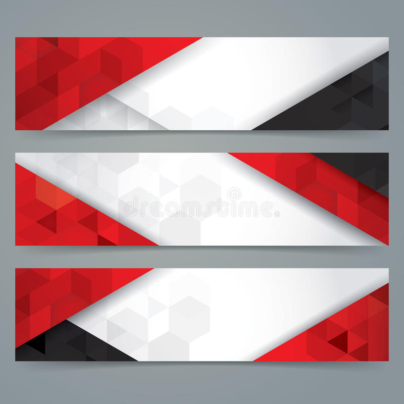 White, Red And Black Abstract Background Banner. Stock Vector -  Illustration Of Advertise, Ornament: 78470657