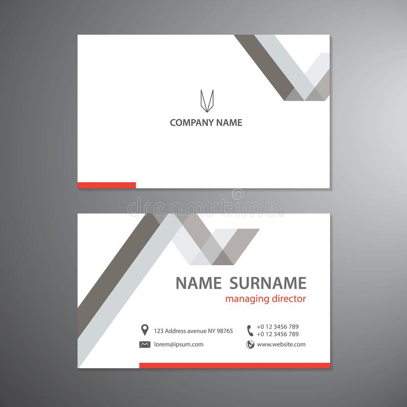White business cards set vector design template stock illustration