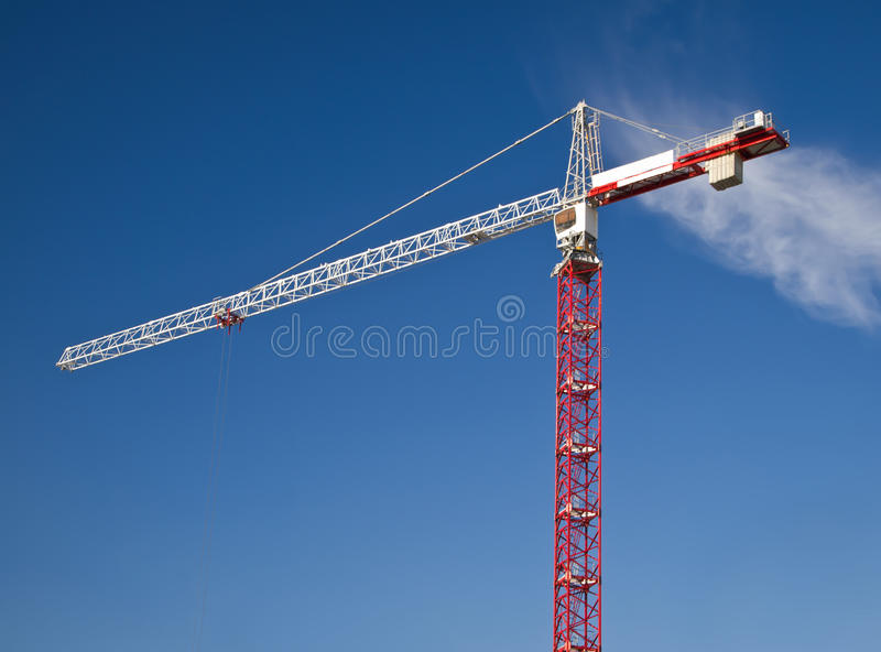 Download White And Red Crane Gibbet On Blue Sky Stock Photo - Image: 18707690
