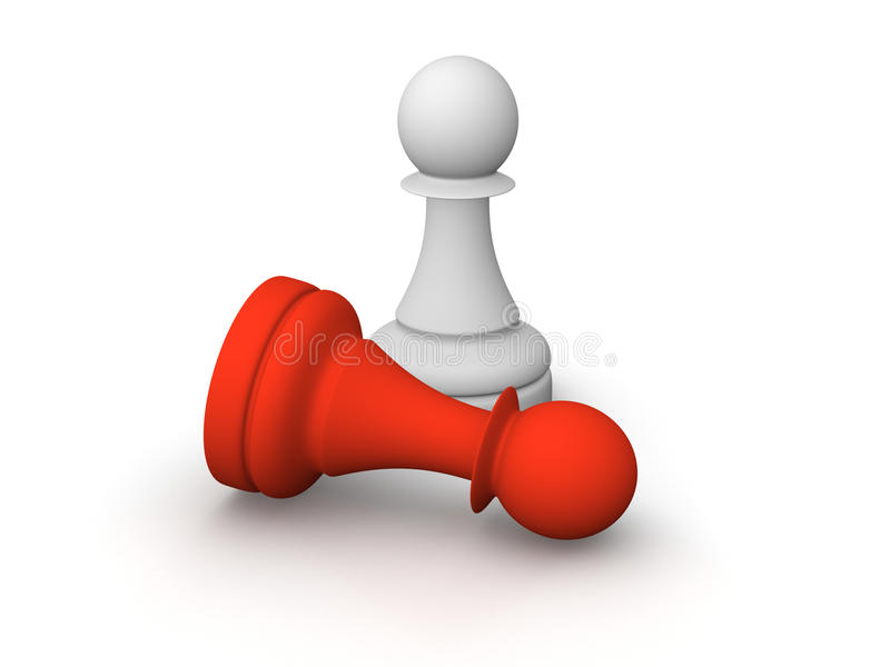 Download White And Red Pawns Royalty Free Stock Photos - Image: 22682308