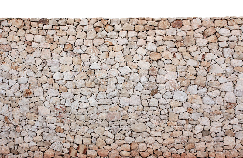 White and red stone wall. Is a wall of stone that can be used for background of multiple uses stock image
