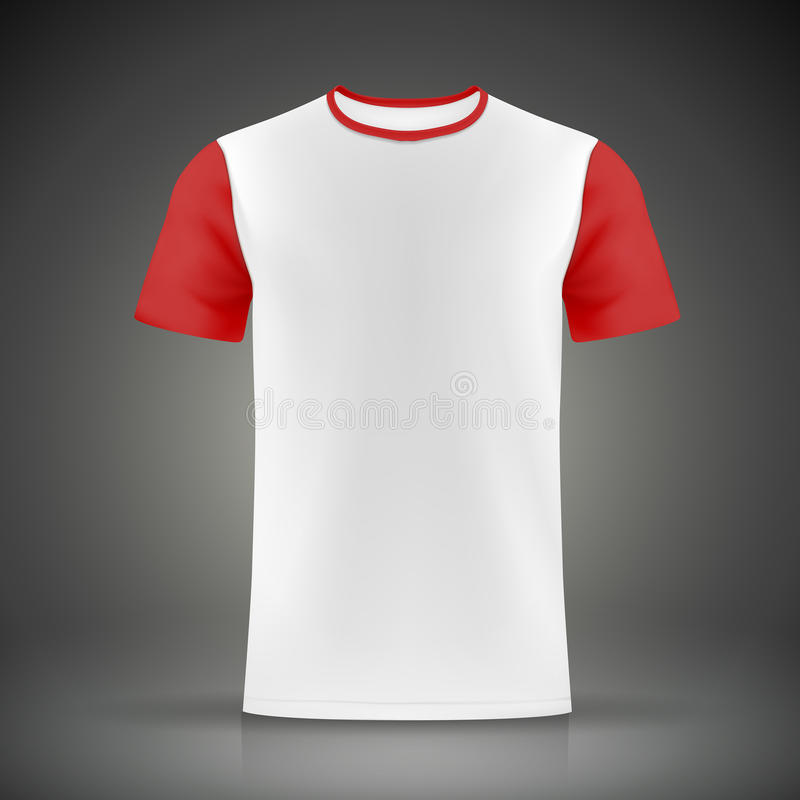 White and red t shirt template stock vector illustration for Black white red t shirt