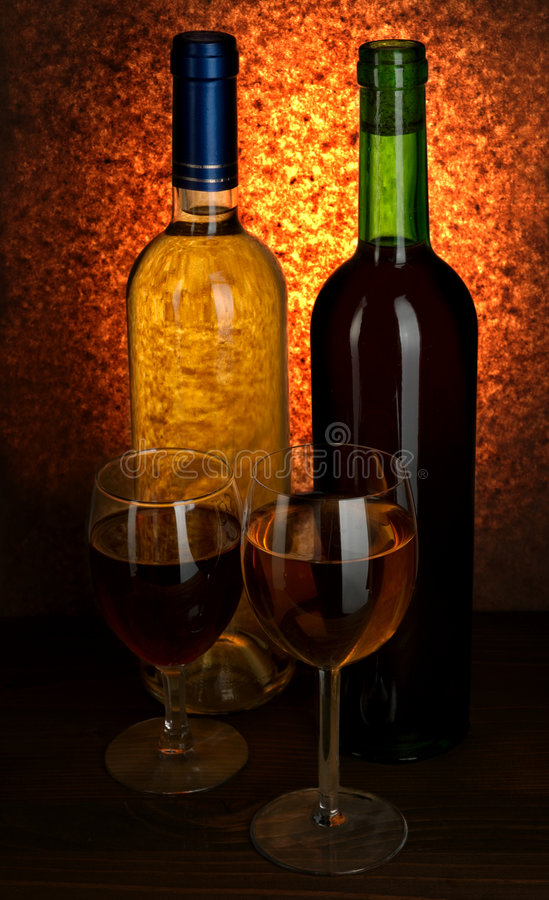 White And Red Wine Royalty Free Stock Photo