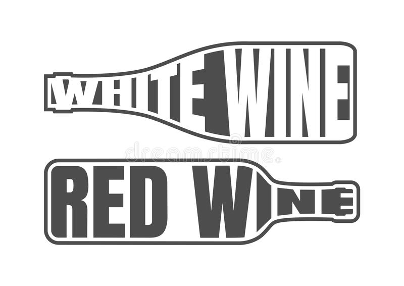 White and Red Wine royalty free illustration