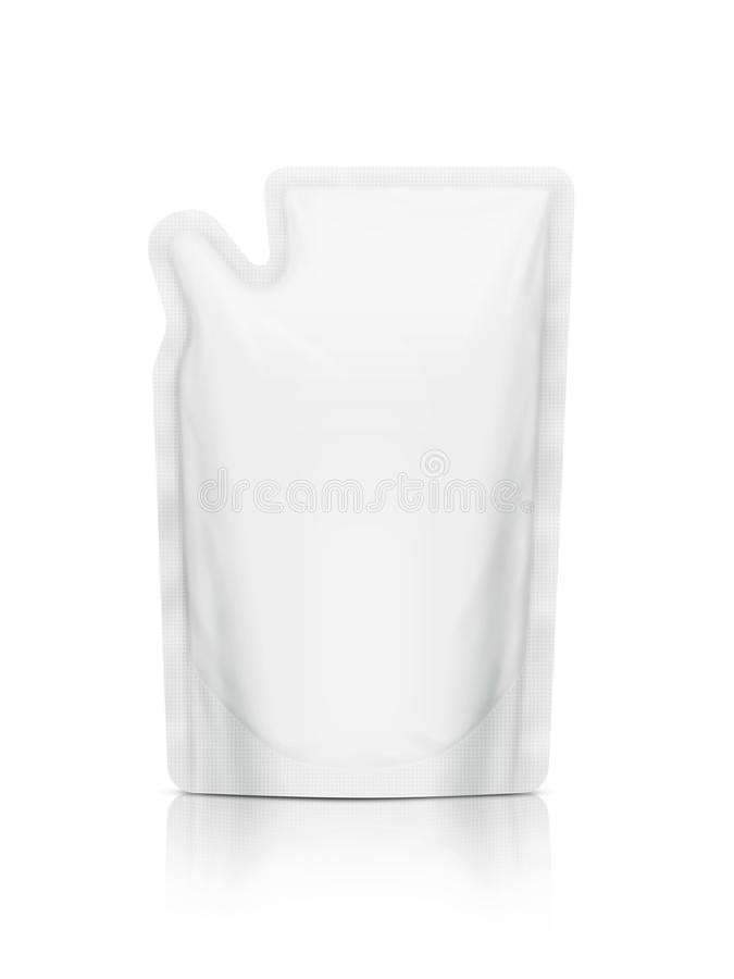 Free White Refill Pouch Isolated On White Background Stock Images - 132736174