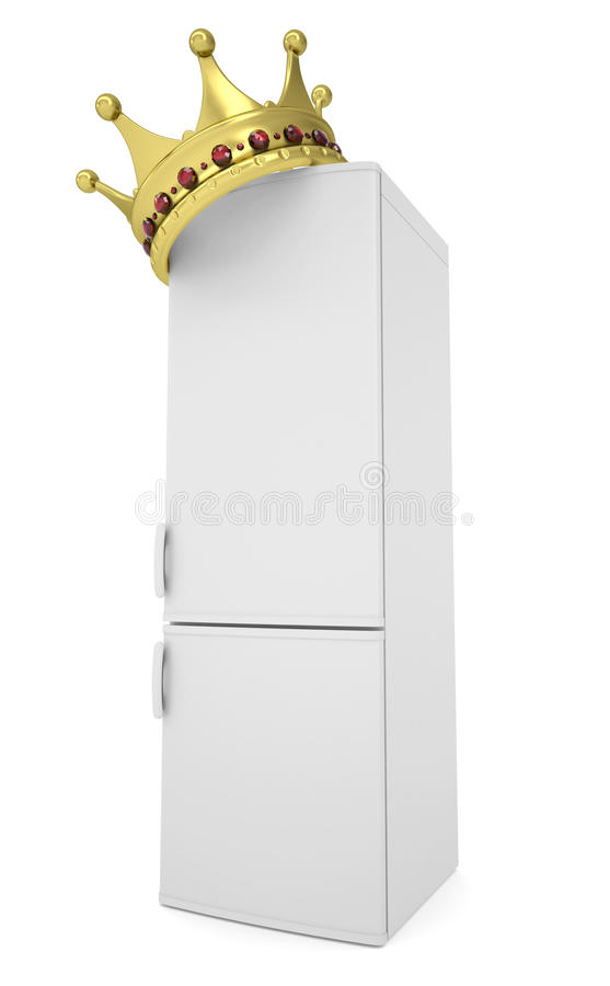 Download White Refrigerator And Gold Crown Stock Illustration - Image: 33790529