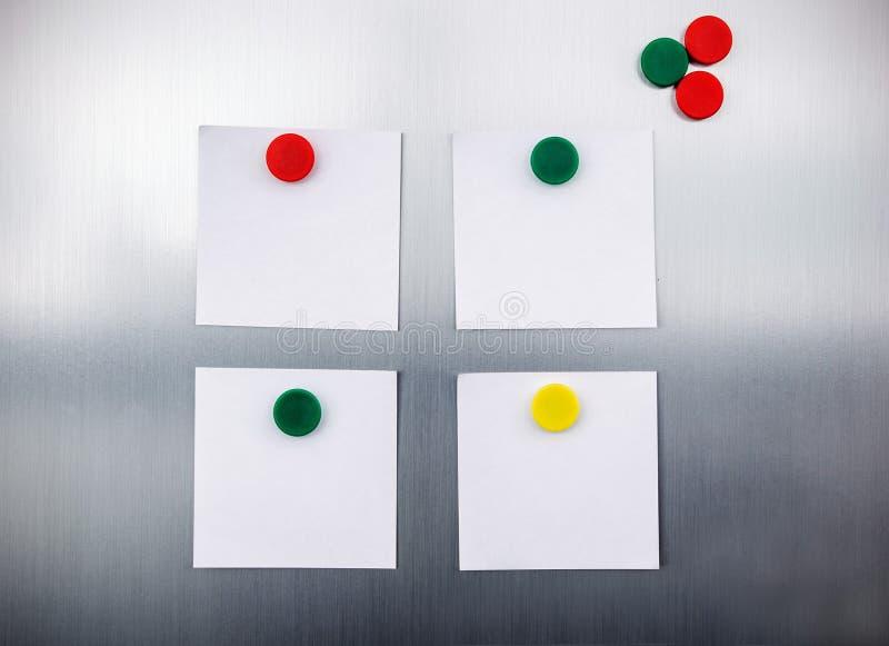White reminders on fridge royalty free stock image