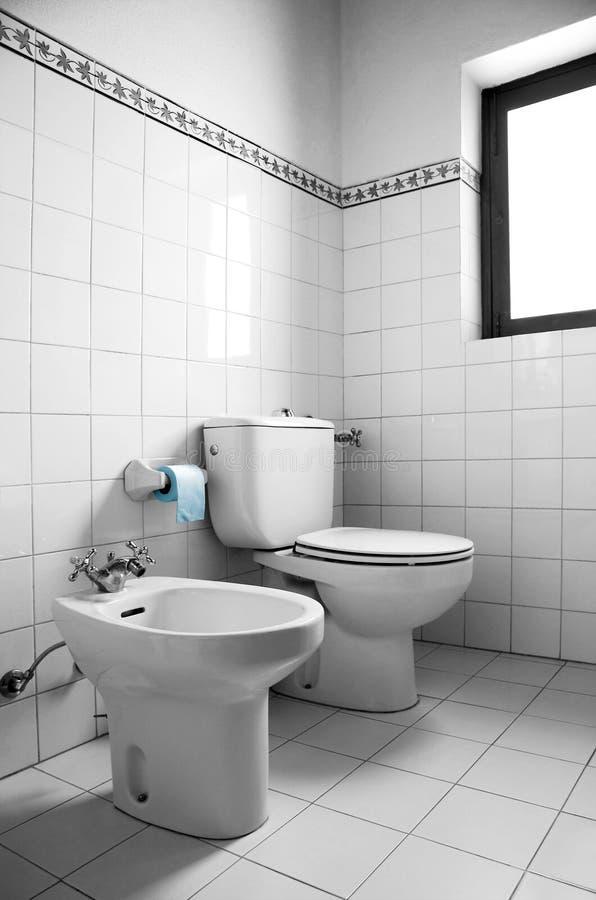 White Restroom stock images