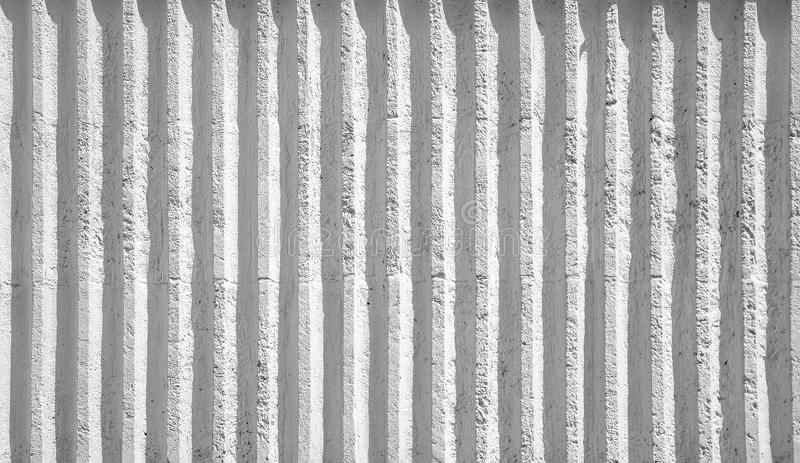 White ribbed concrete wall stock image