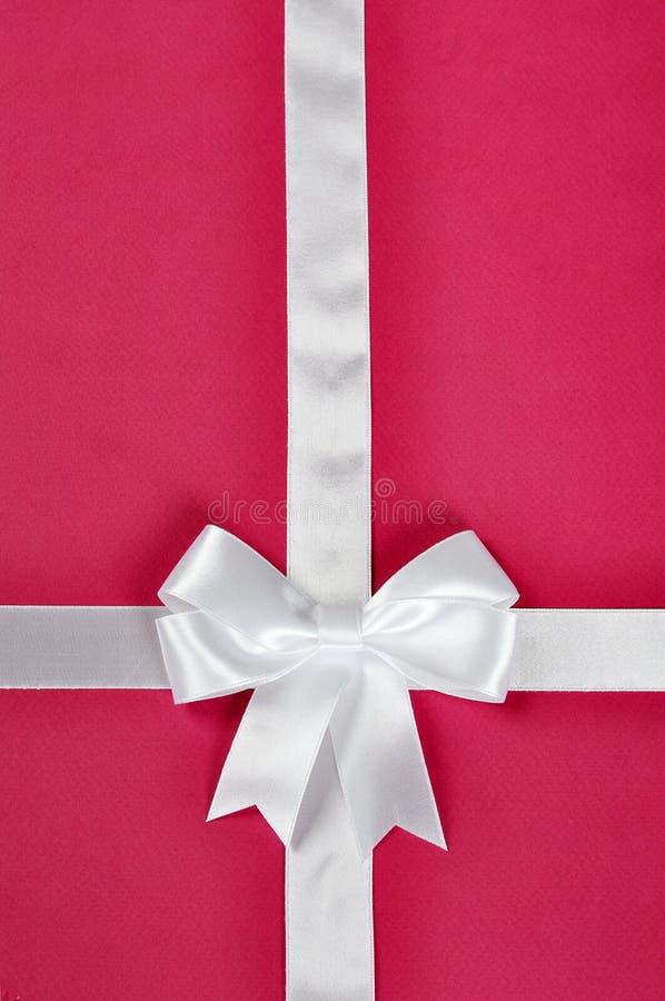 White Ribbon With Bow Royalty Free Stock Photos
