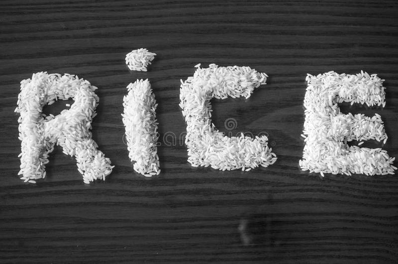 Download White rice forming a sign stock image. Image of asia - 29897113