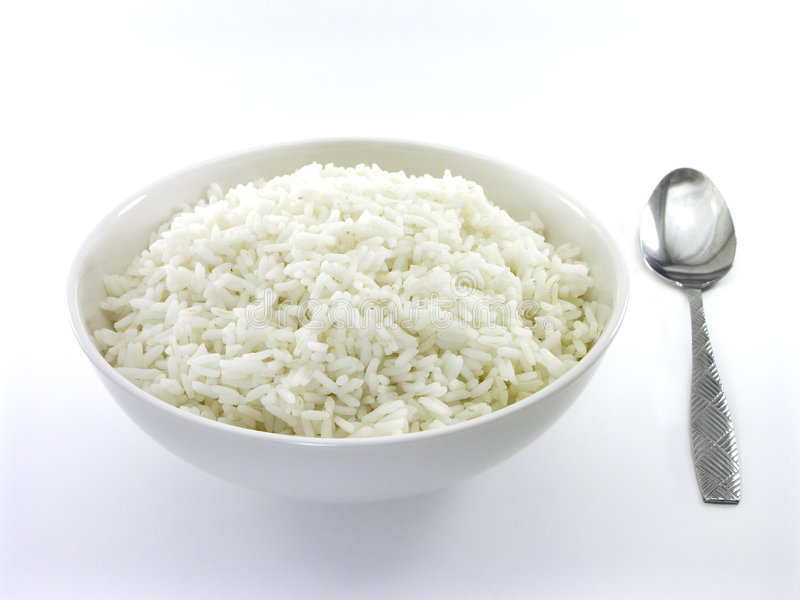 White Rice With Spoon; 1 of 2