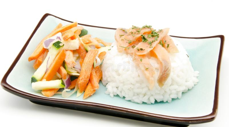 Download White Rice With Vegetable Crudites Royalty Free Stock Photos - Image: 26451848