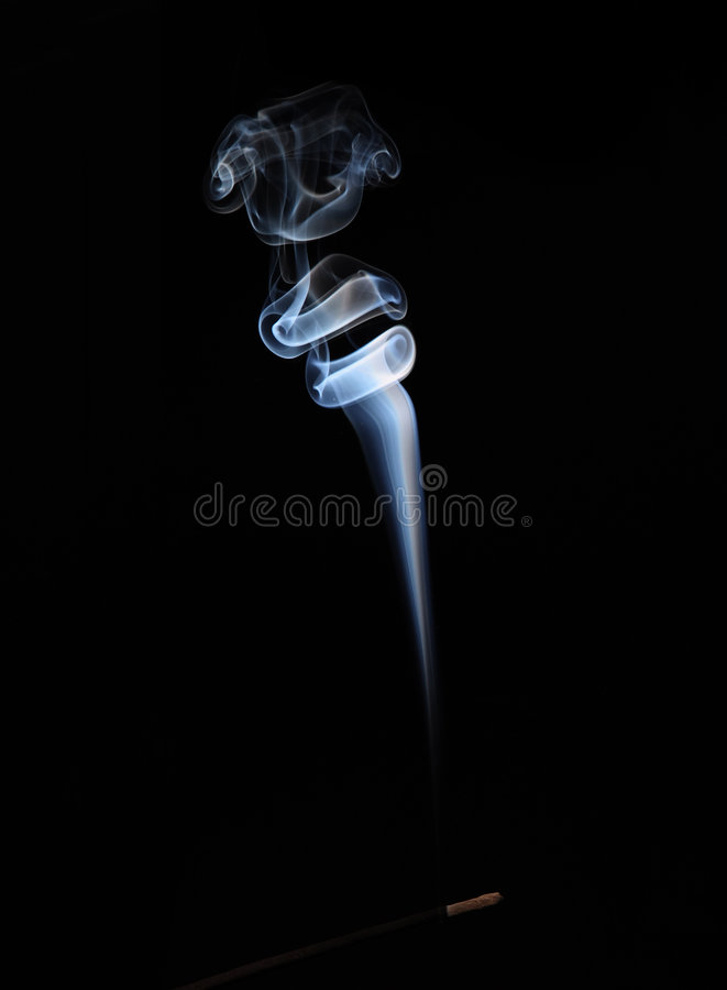 Free White Rising Smoke From Aromatic Stick Royalty Free Stock Photography - 5605077