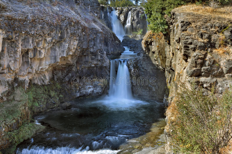 White River and Celestial Falls. In Tygh Valley Oregon stock photo