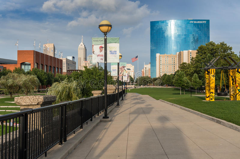 White River delstatspark i Indianapolis arkivfoto