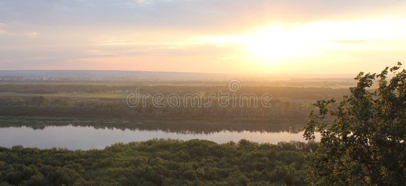 White River em Oufa, Rússia fotografia de stock royalty free