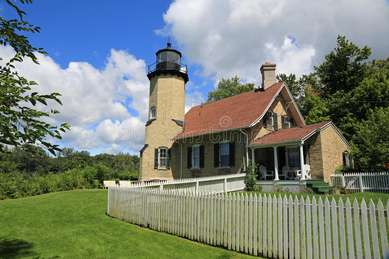 White River lighthouse. Historic White River lighthouse and museum in Michigan royalty free stock photos