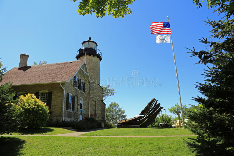 White River lighthouse. Historic White River lighthouse and museum in Michigan royalty free stock photo