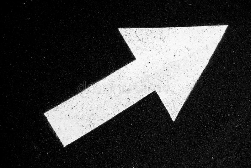 Sign of right direction with an arrow stock photo