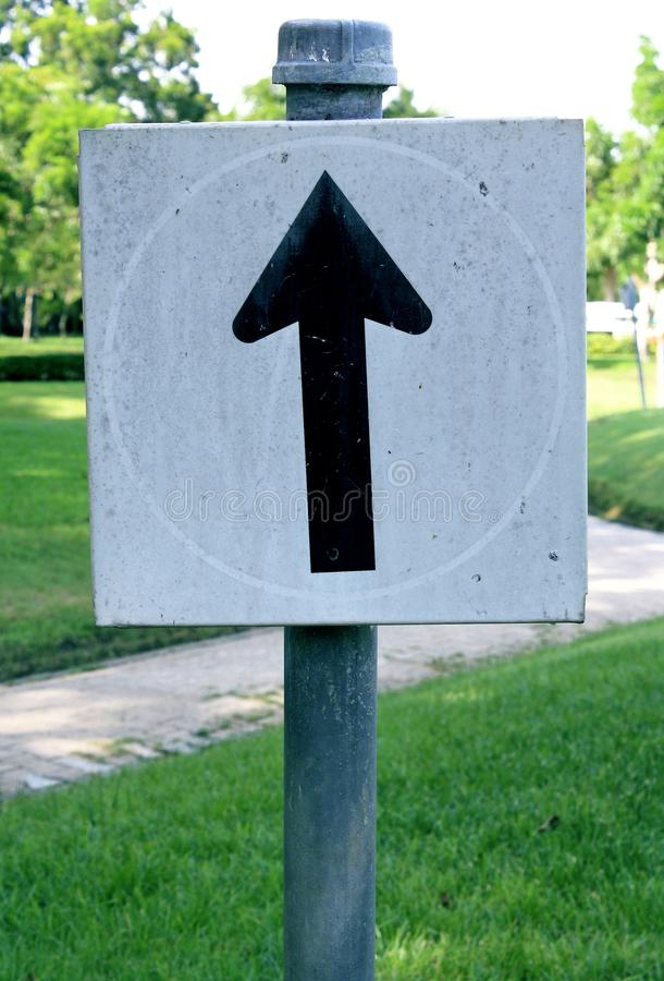 White road signs, traffic signs on nature. Background royalty free stock images