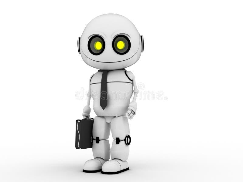 Download White robot stock illustration. Illustration of official - 22855709