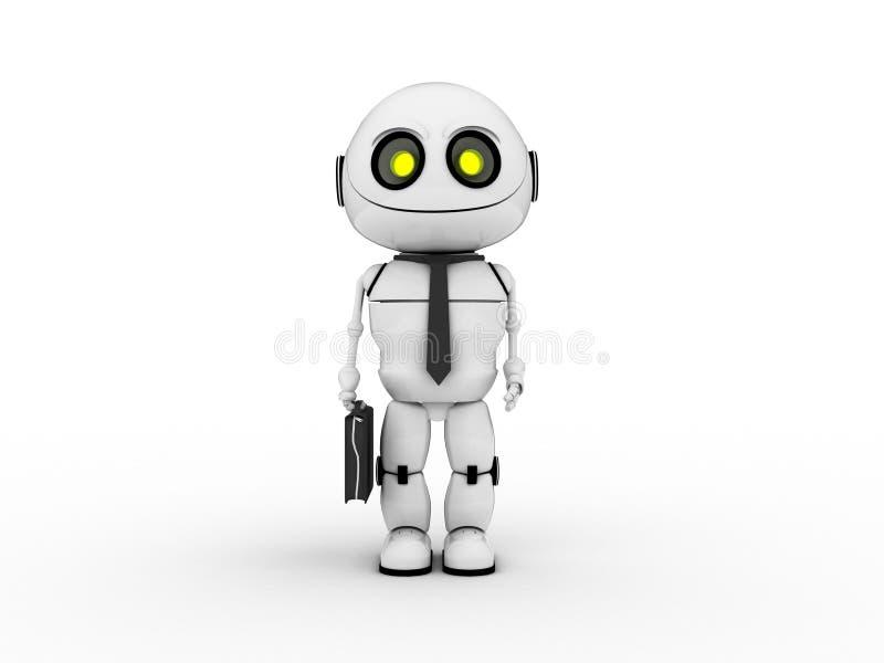 White robot stock photo