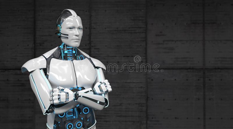 Robot Crossed Hands vector illustration