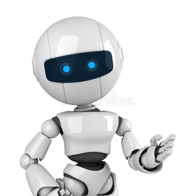 White Robot Stay Stock Images