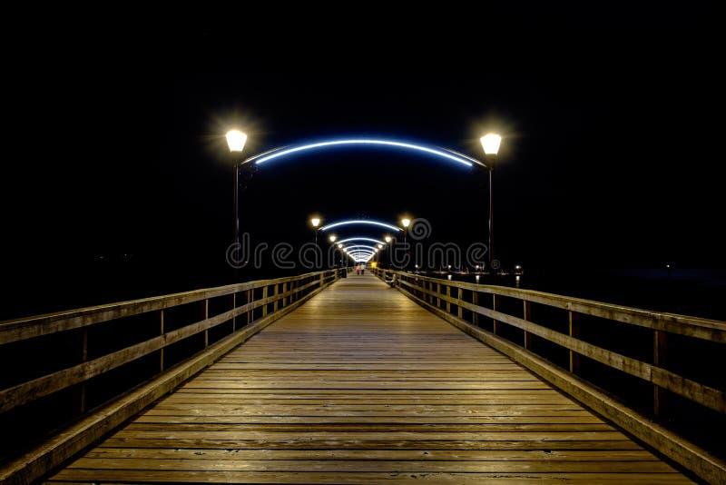 White rock bc pier at night royalty free stock photo