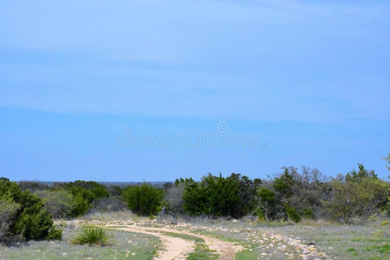 White rock road in the desert royalty free stock image