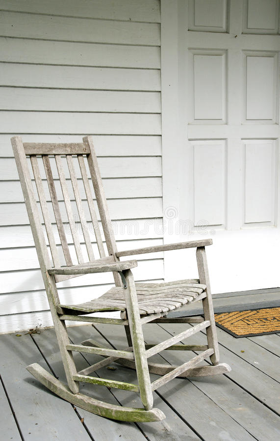 Download Antique White Rocking Chair On Porch Stock Photo - Image of  maturity, mature: - Antique White Rocking Chair On Porch Stock Photo - Image Of