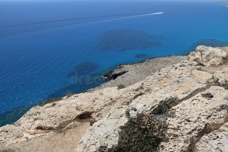 White rocks in beautiful Cyprus royalty free stock image