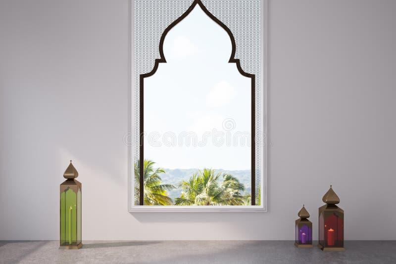 White Room, Arabic Style Window, Frame Stock Illustration ...